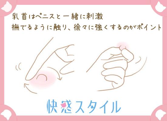 乳首の刺激方法についてのイラスト